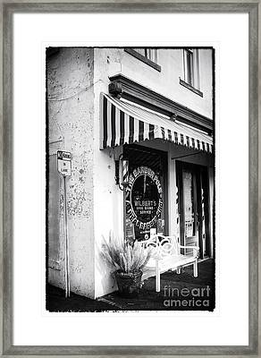 A Real Barber Shop Framed Print by John Rizzuto