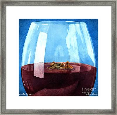 A Really Big Red... Framed Print by Will Bullas