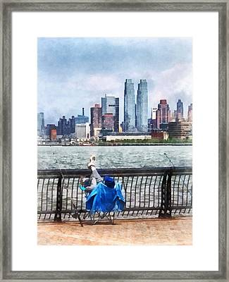 A Relaxing Day For Fishing Framed Print by Susan Savad