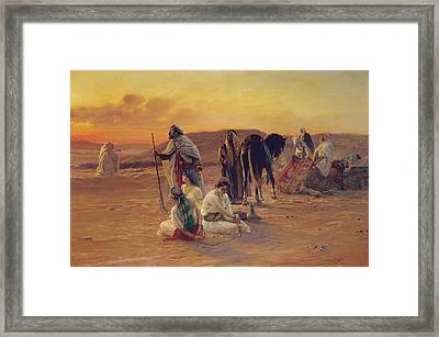 A Rest In The Desert Framed Print by Otto Pilny