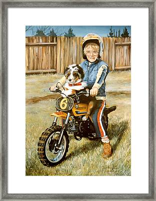 A Ride In The Backyard Framed Print by Donna Tucker