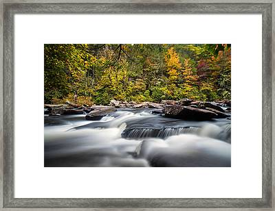 A River Is Furious And Smooth Framed Print by Andres Leon