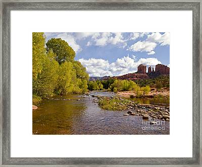 A River Runs Through It Framed Print by Alex Cassels