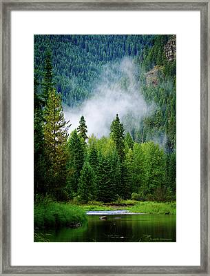 A River Runs Through It  Framed Print by Joseph Noonan