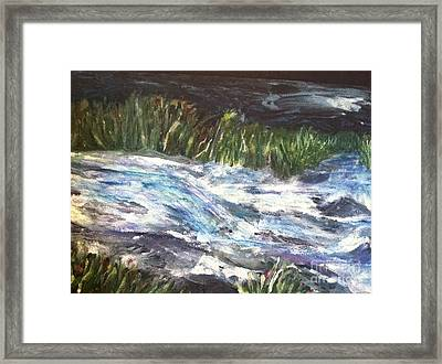 A River Runs Through Framed Print by Sherry Harradence
