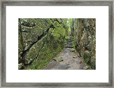 A Rock Face Trail Leading To Agawa Bay Framed Print by Ken Gillespie