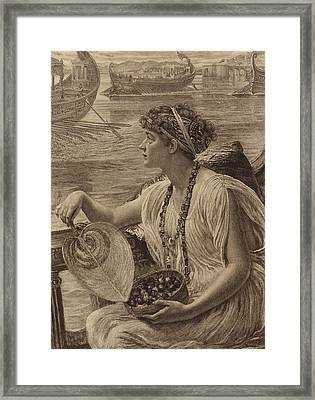 A Roman Boat Race Framed Print by English School