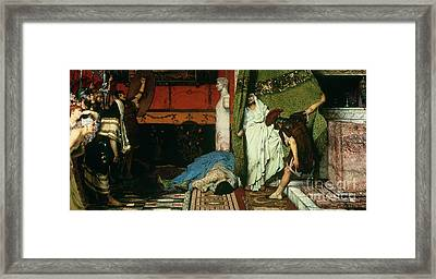 A Roman Emperor   Claudius Framed Print by Sir Lawrence Alma Tadema