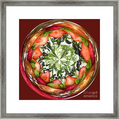 A Round Of Fresh Fruit Salad Framed Print by Anne Gilbert