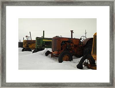 A Row Of Relics Framed Print by Jeff Swan