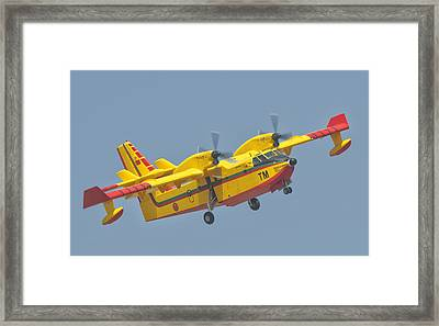 A Royal Moroccan Air Force Cl-415 Framed Print by Giovanni Colla