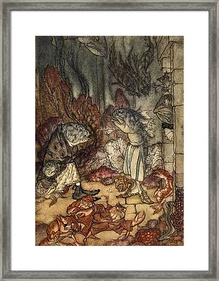 A Scaly Set Of Rascals, Illustration Framed Print by Arthur Rackham