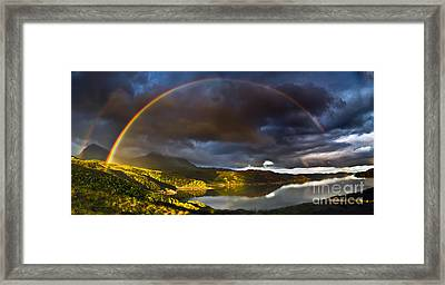 A Scottish Highland Rainbow Kylesku Framed Print by John Farnan