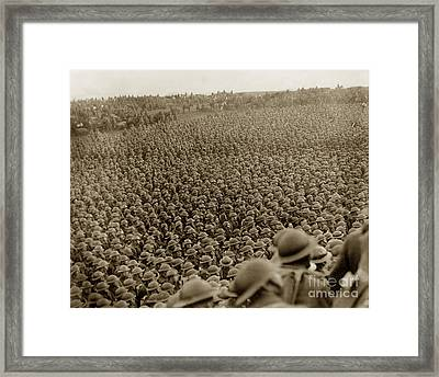 A Sea Of Helmets World War One 1918 Framed Print by California Views Mr Pat Hathaway Archives