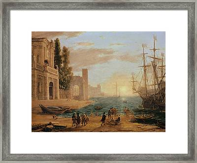 A Seaport, 1639 Framed Print by Claude Lorrain
