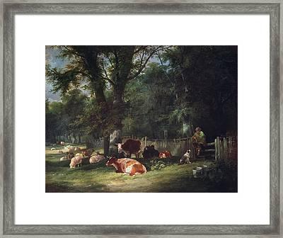 A Shady Corner Framed Print by William Snr. Shayer