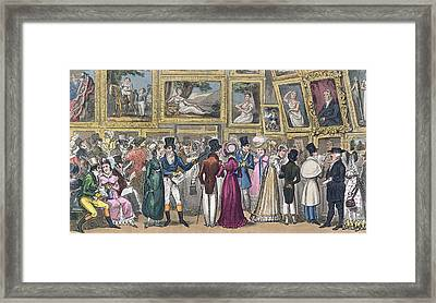A Shilling Well Laid Out Tom And Jerry Framed Print by I. Robert & George Cruikshank