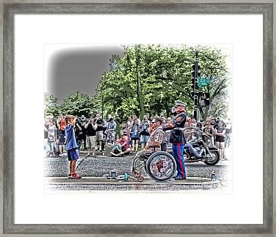 A Show Of Respect Framed Print by Tom Gari Gallery-Three-Photography