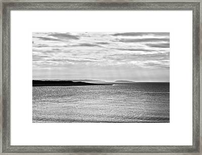 A Simple Welsh Coast Framed Print by Georgia Fowler