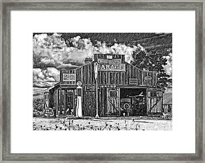 A Simpler Time Pencil Sketch Version Framed Print by Steve Harrington