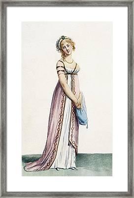 A Simply Designed Ladys Ball Dress Framed Print by Pierre de La Mesangere