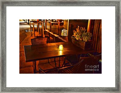 A Single Candle Burns. Framed Print by Paul Ward