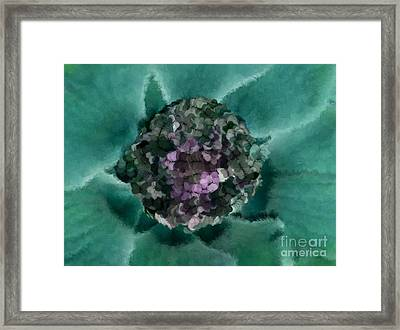 A Sky Full Of Lighters Teal Purple Framed Print by Holley Jacobs
