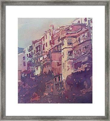 A Slice Of Riomaggiore Framed Print by Jenny Armitage