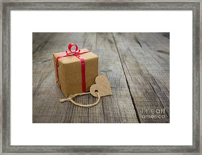 A Small Gift Framed Print by Aged Pixel