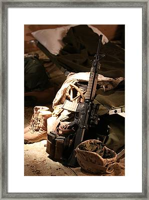 A Soldiers Friends Framed Print by Shoal Hollingsworth