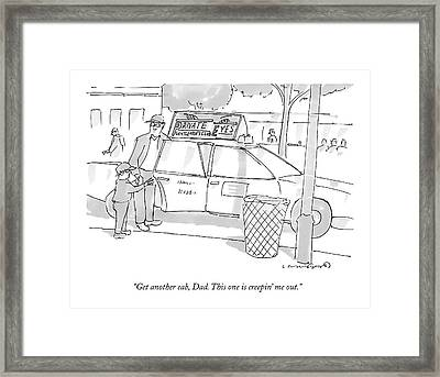 A Son Speaks To His Father Framed Print by Michael Crawford