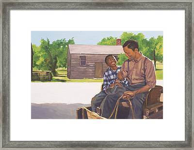A Sons Comfort Framed Print by Colin Bootman