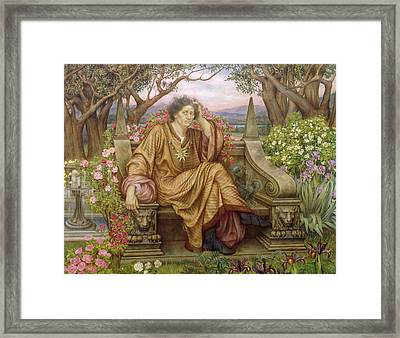 A Soul In Hell Framed Print by Evelyn De Morgan