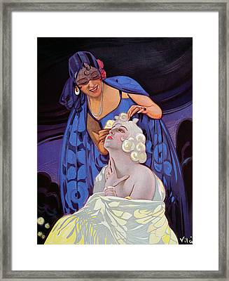A Spanish Hairdresser Framed Print by Vila