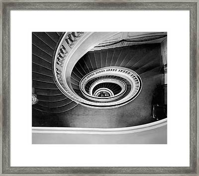 A Spectacular View Of The Grand Staircase At The New Home Of The Framed Print by Underwood Archives
