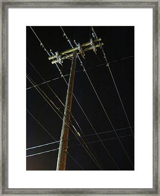 A Spiderweb Of Technology Framed Print by Guy Ricketts