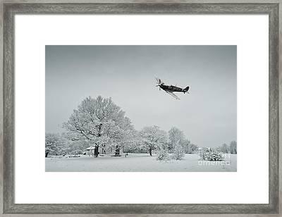 A Spitfire Winter  Framed Print by J Biggadike