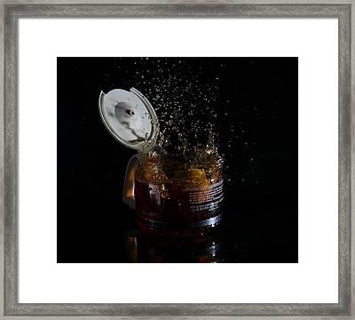A Splash Of Coffee Framed Print by Randy Turnbow