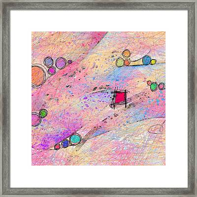 A Square Peg In A Round World Framed Print by Rachel Christine Nowicki