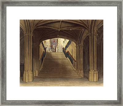 A Staircase, Windsor Castle, From Royal Framed Print by Charles Wild