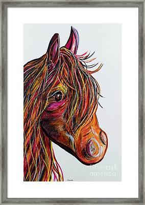 A Stick Horse Named Amber Framed Print by Eloise Schneider
