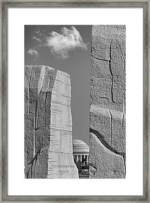 A Stone Of Hope Bw Framed Print by Susan Candelario
