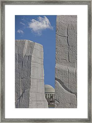 A Stone Of Hope Framed Print by Susan Candelario