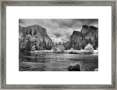 A Storm Draws Near - Black And White Framed Print by Lynn Bauer