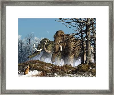 A Storm Of Mammoths  Framed Print by Daniel Eskridge