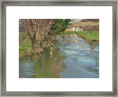 A Stream In Spring Framed Print by Fritz Thaulow