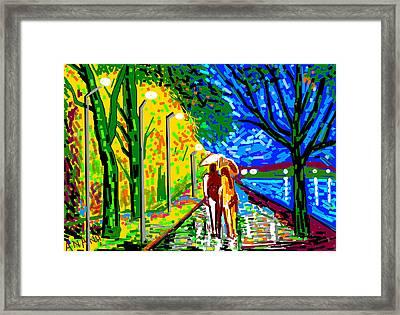 A Street Scene Framed Print by Anand Swaroop Manchiraju