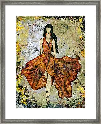 A Stroll Through Autumn Framed Print by Janelle Nichol