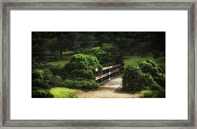 A Stroll Through The Park Framed Print by Tom Mc Nemar