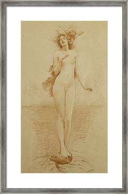 A Study For The Birth Of Love Framed Print by Solomon Joseph Solomon
